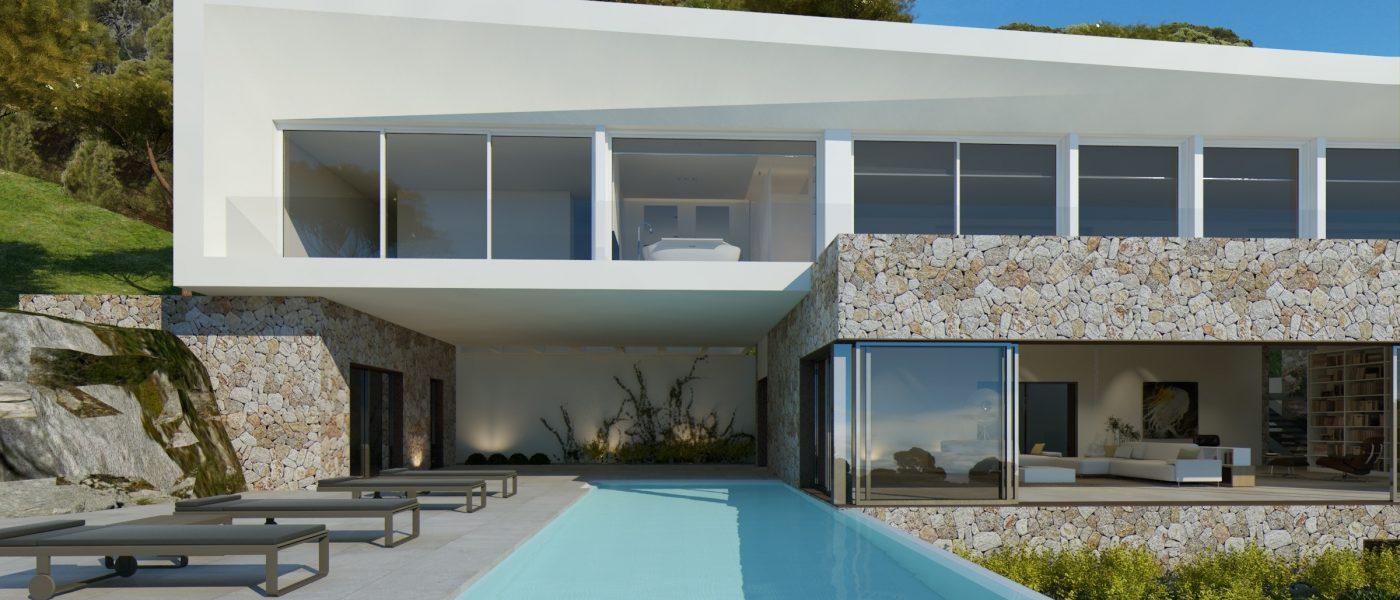 Moderne Villa in Lauflage zum Strand in Sol de Mallorca ...