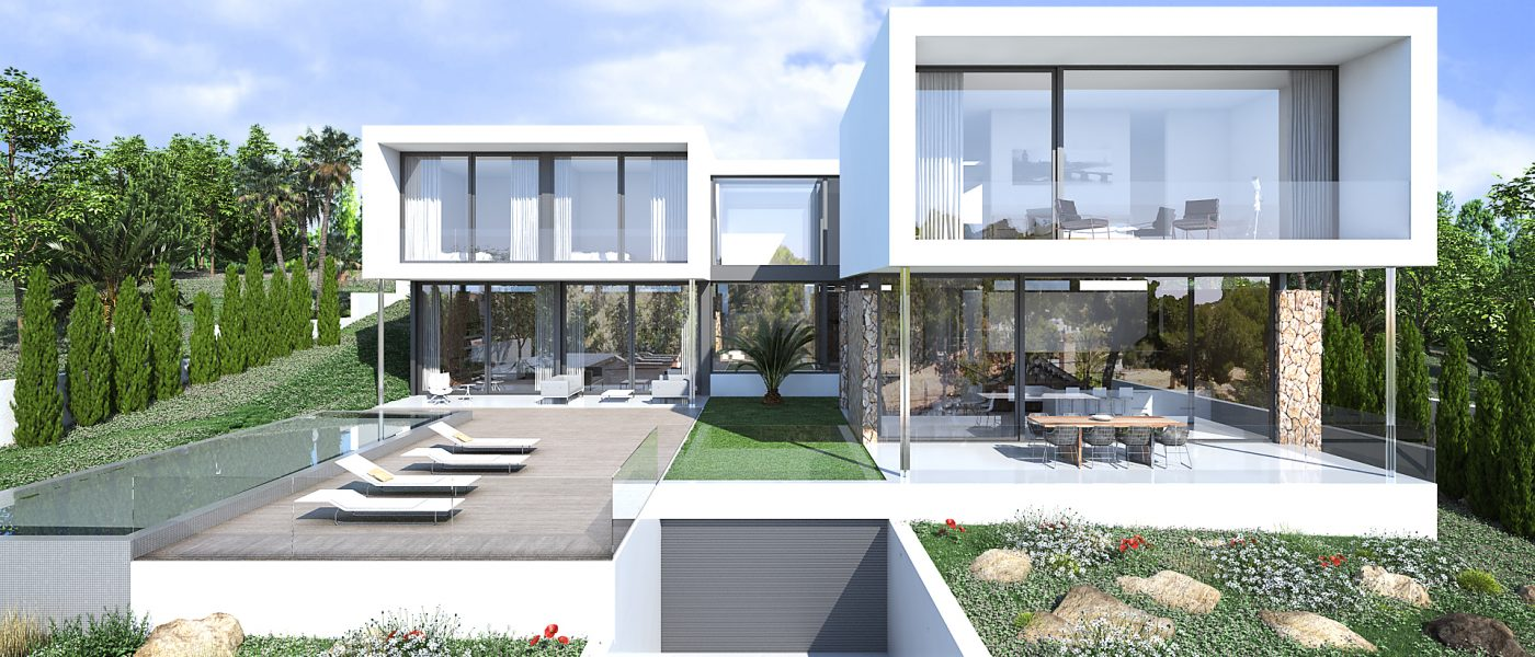 Moderne Designer Villa mit Meerblick in Sol de Mallorca ...